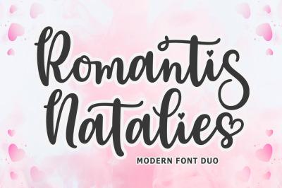 Romantis Natalies Font Duo
