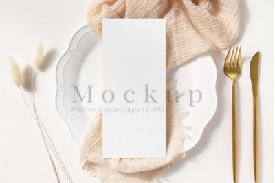 Greeting Card,4x9 Card Mockup,Wedding Mockup