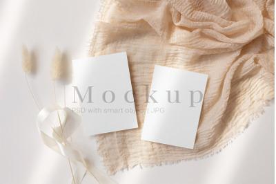 Smart Object Mockup,PSD Mockup,5x3,5 Card Mockup