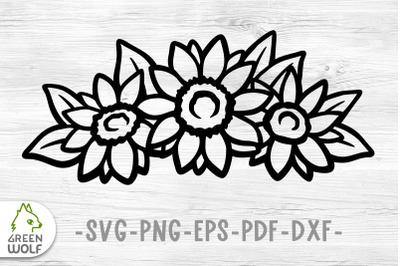 Sunflower svg file Sunflower bouquet svg Flower svg Vinyl decal svg
