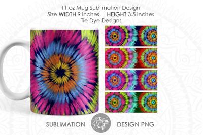Tie dye mug, sublimation designs, 11 oz mug