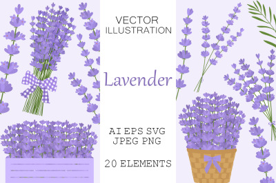 Lavender flowers. Lavender SVG. Provence flowers.
