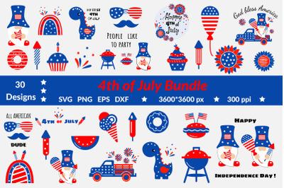 4th of July SVG Bundle. Patriotic SVG Bundle. Fourth of July