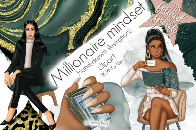 Millionare Mindset Clip Art