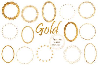 Gold Frame. 42 PNG
