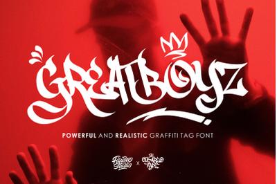 Greatboyz - Realistic Graffiti Tag Font
