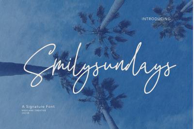 Smilysundays Signature Font
