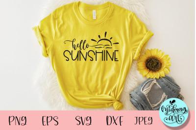 Hello sunshine svg, summer svg