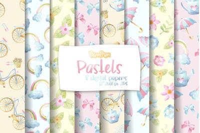 Pastels Digital Papers
