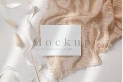 Smart Object Mockup,5.5x4.25 Card Mockup