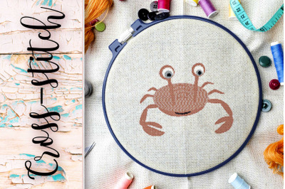 """The scheme for embroidery cross-stitch """"Crab"""""""