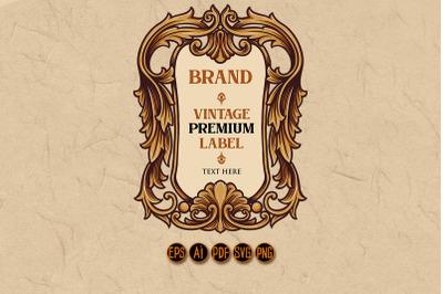 Vintage Premium Label Frame Ornaments