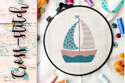 """The scheme for embroidery cross-stitch """"Ship"""""""