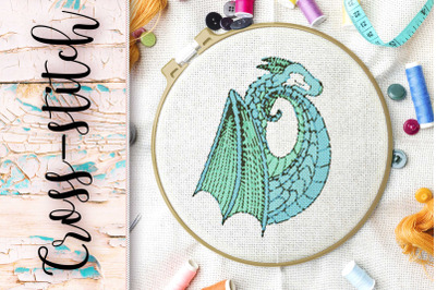 """The scheme for embroidery cross-stitch """"The Dragon"""""""