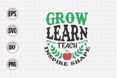 Grow learn teach inspire shape svg.