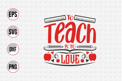 to teach is to love svg.