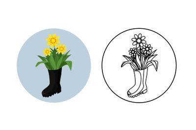 spring fill outline bundle-30