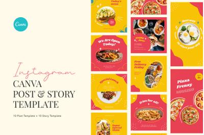 Playful Fast Food Instagram Canva