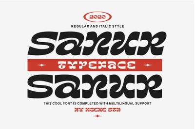 Sanur Font Duo Regular & Italic