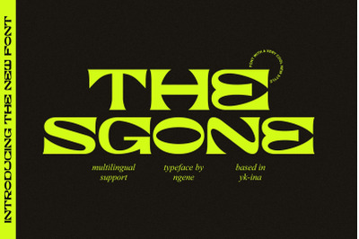 The Sgone Typeface