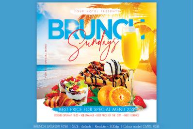 Brunch Saturday Flyer