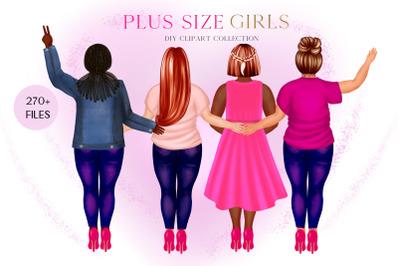 Plus size Curvy women clipart