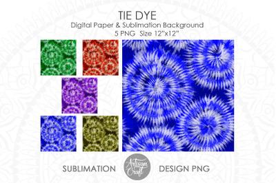Tie dye sublimation PNG, Tie dye digital paper PNG