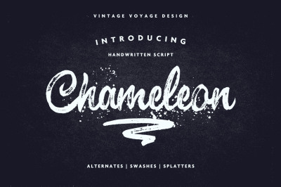Chameleon • Impressive Brush Script