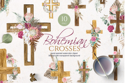 Boho Floral Cross