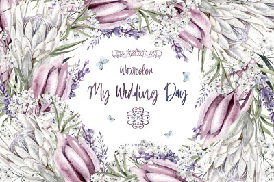 My Watercolor Wedding Day