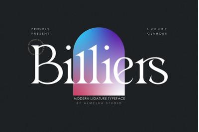 Billiers | Modern Ligature Typeface