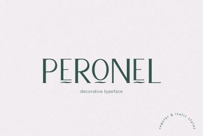 Peronel, Decorative font