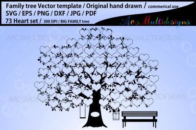 family tree vector 73 names