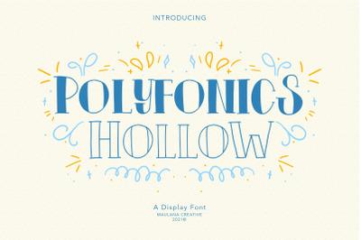 Polyfonics Display Font