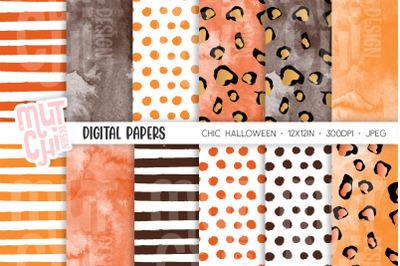 Chic Halloween Digital Paper Set
