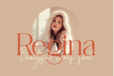 Regina_beatyful serif font