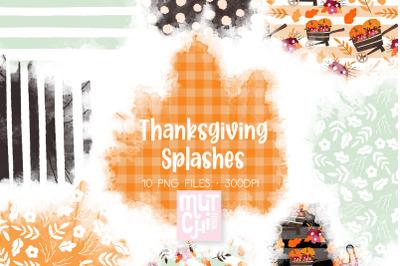 Thanksgiving Watercolor Splashes 01