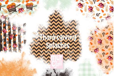 Thanksgiving Watercolor Splashes 02