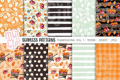Thanksgiving/Fall Seamless Patterns Vol1