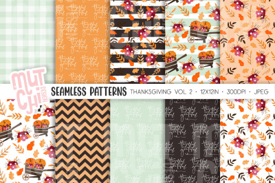 Thanksgiving/Fall Seamless Patterns Vol2