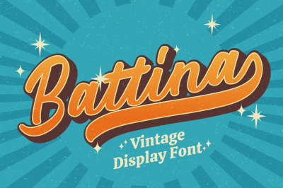 Battina - Vintage Display Font