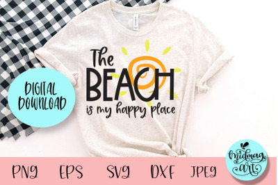 The beach is my happy place svg, summer svg