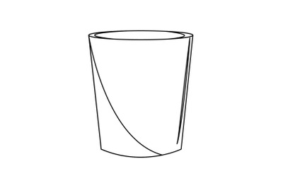 Kitchen Plastic Cups Outline Flat Icon