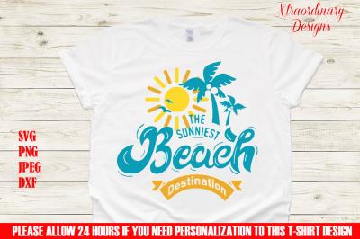 Family Beach Vacation T-Shirt Design SVG