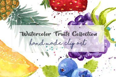 Watercolor Fruits ClipArt Pack Hand painted