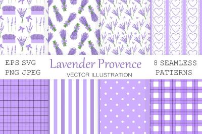 Provence Lavender pattern. Lavender flowers seamless pattern