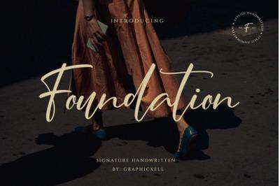 Foundation - Signature Font