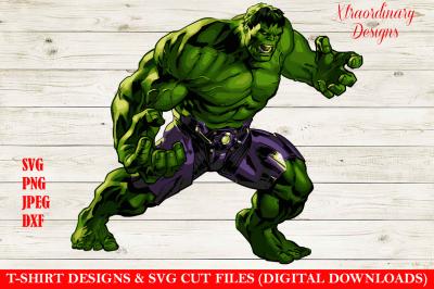 Hulk Smash T-Shirt Design SVG