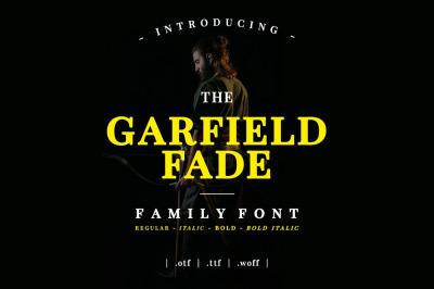 Garfield Fade Family Font