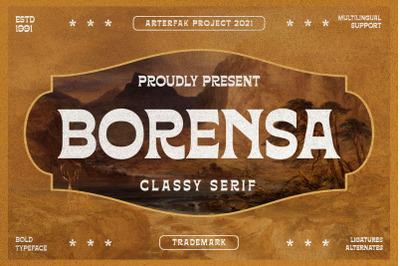 Borensa - Vintage Serif